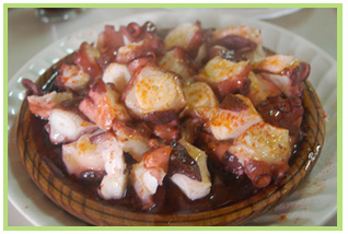 pulpo taberna de montse, asturias galicia